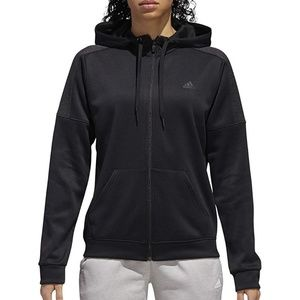 Adidas Black Full Zip Hoodie Active Jacket